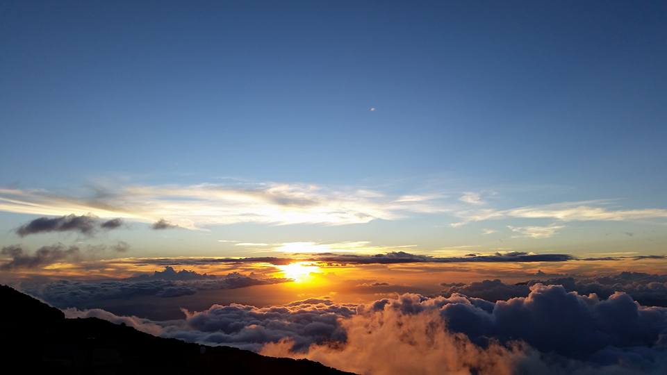 This incredible shot of the sunset at Haleakala was captured by our Tour Guide Scott!
